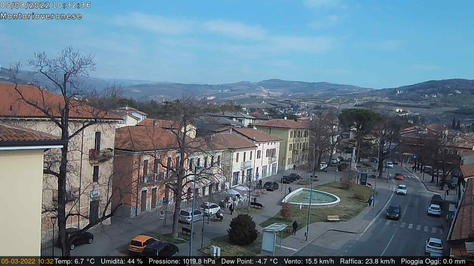Immagine webcam in tempo reale meteo.montorioveronese.it